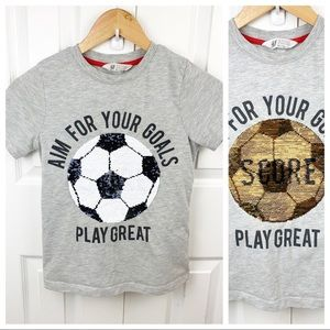 H&M M (8-10 Youth) Reversible Sequin Soccer Shirt